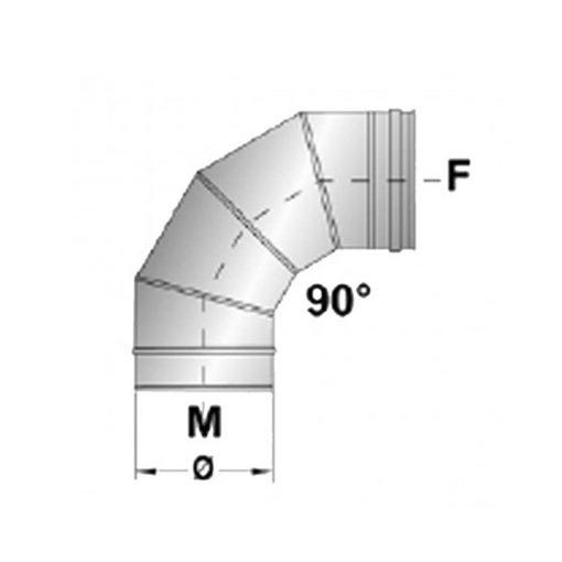 Afvoerbocht RVS 90 graden