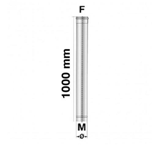 Afvoerbuis RVS 100 cm