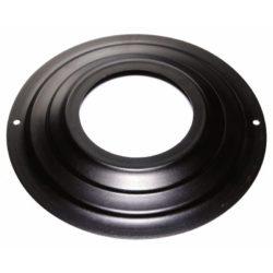 rozet 130mm zwart